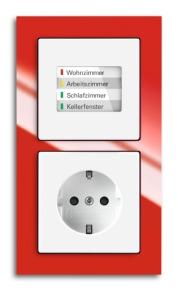 LED-Kontrollanzeige in Lichtschalter eingebaut